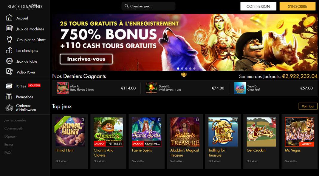 Black Diamond Online Casino Revues