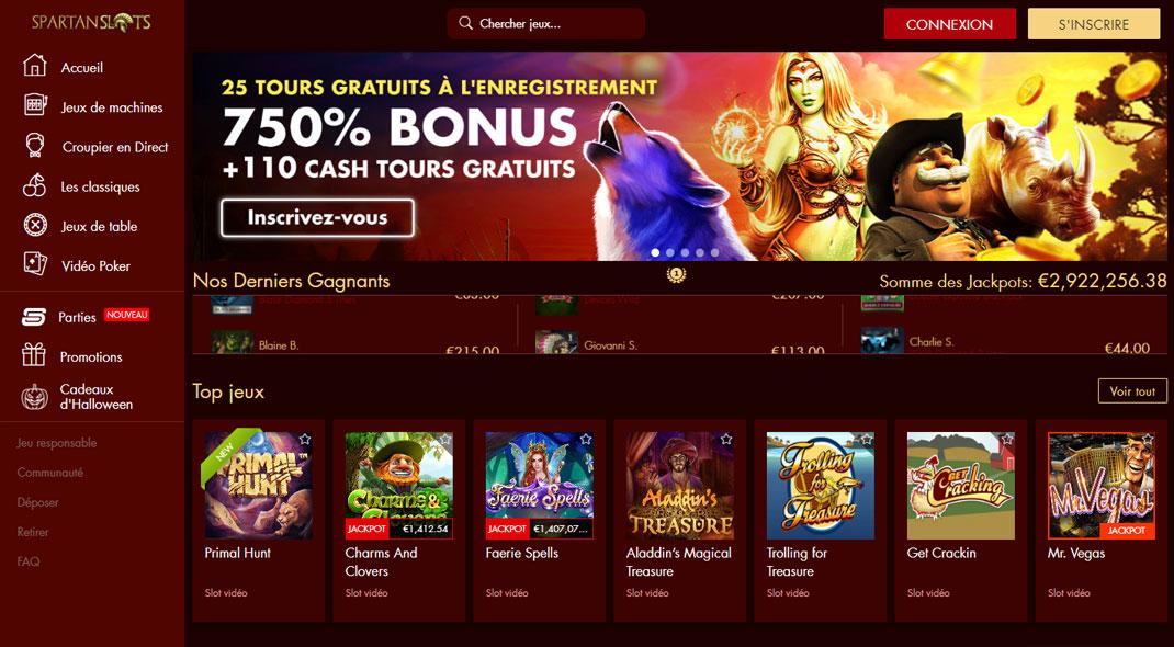 Spartan Slots Online Casino Revues